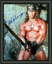 ARNOLD SCHWARZENEGGER - CONAN - Signed A4 Photo Poster - FREE POSTAGE