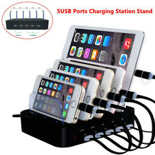 5-Port Multi USB Charging Station Charger Stand Fit for iPhone iPad Samsung LG