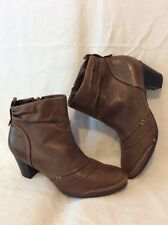 Footglove Brown Ankle Leather Boots Size 4.5