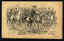 LADY SHE CARRIED 1883 Finch Mason - Horses - Fox Hunting LITHOGRAPH
