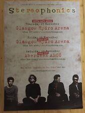 Stereophonics - Rare Concert / gig poster, Glasgow & Aberdeen ,Nov 2013