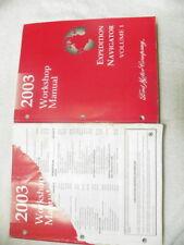 2003 Ford Expedition Navigator Workshop Manuals
