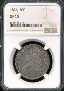 1826 Capped Bust Half Dollar NGC XF 45 *Sharp - Nice For The Grade!*