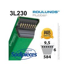 Courroie tondeuse 3L230 Roulunds Continental 9,5 x 6 x 584 mm