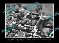OLD POSTCARD SIZE PHOTO BURY ST EDMUNDS SUFFOLK ENGLAND, TIMBER YARDS c1953 2