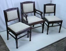 Set of 8 East Lake Victorian American Walnut Dining Room Chairs; 6 side, 2 arm