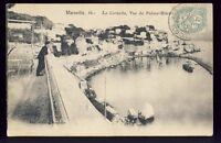 cpa 13 - MARSEILLE (Bouches du Rhône) La CORNICHE, Vue du PALACE HÔTEL animés
