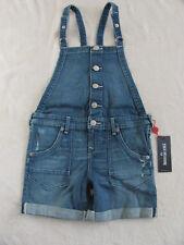 True Religion Boyfriend Cut Off Overall Shorts -Peace- Small (7) NWT $79
