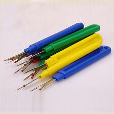 3x Plastic Seam Ripper Stitch Picker Unpick Thread Cutter Sewing Tool&Cap ZJ
