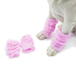 Winter Pet Dog Leg Socks Zebra Print Non-slip Leg Warmers Pet Supplies MP