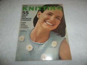 Vintage Vogue Knitting Book Spring & Summer 1966 Fashion Style
