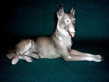 Großer Porzellan Schäferhund Manufaktur Unterweissbach 50er Jahre