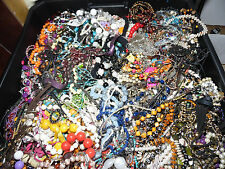 vintage/now NECKLACE LOTS lbs wear,repair Regional A BOX