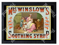 Historic Mrs Winslow's Soothing Syrup, 1880 Advertising Postcard