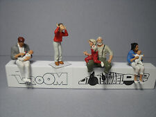 5  FIGURINES 1/43  SET 305  LA  SALLE  D'ATTENTE  VROOM  A  PEINDRE   UNPAINTED