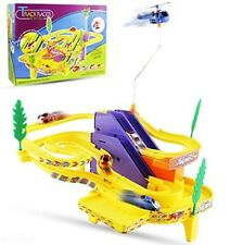 Kids Race Track Car Racing Spinning Helicopter Music Sounds Toy Boy Gift New