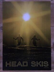 VINTAGE & RARE 1960's *HEAD SKIS* SNOW SKI SKIING POSTER CLASSIC FREE SHIPPING!