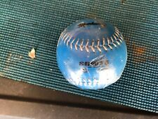Markwort Training Softball, Weighted 5oz Blue Leather Ball