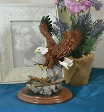 More details for country artists birds large bald eagle landing ornament ca 590  (reff797)