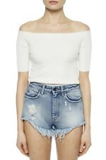 New Hemut Lang Off The Shoulder Ribbed Top Size Small MSRP $320
