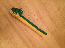 10x Green And Yellow ribbons / lanyards with Gold clip 22mm wide FREE P&P