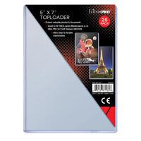 (100) Ultra Pro 5 x 7 Topload Card Holders 5x7 Photo Postcard Toploaders
