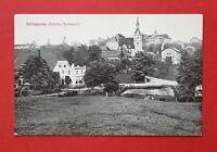 AK Sächsische Schweiz STRUPPEN 1914 Ortsansicht mit Gasthof und Schloss  ( 36528