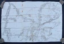October 15,1863 Civil War Map For 2nd Battle Of Rappahnnock Station Virginia