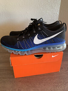 Men's Nike Flyknit Air Max athletic shoes, size 10