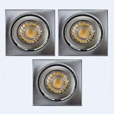 LED Set Einbaustrahler Einbau Spot Leuchte3 x 4 W 230V Spots 80x80 mm schwenkbar