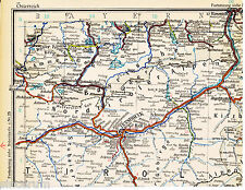 Innsbruck Kufstein Matrei 1925 orig. Eisenbahn-Atlas-Teilkarte GAP Tölz Reutte