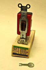 Circle F 3422-L Double Pole Locking Toggle Switch 20 Amp 120-277 Volt A.C. Brown