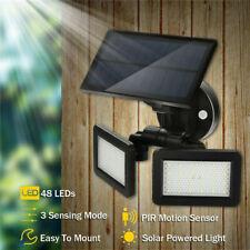 Energía Solar Sensor Movimiento PIR Jardín Luz de Pared Seguridad Lámpara 48Leds