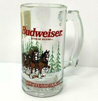Libbey Anheuser Busch Budweiser Clydesdales 1996 Beer Mug Stein Glass Vintage