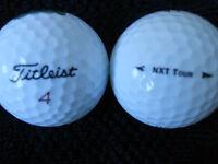 """20  TITLEIST  """"NXT TOUR""""   Golf Balls - """"MINT/PEARL"""" Grades."""