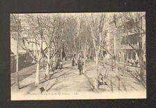 ORAN (ALGERIE) TRAMWAY , PLACE des QUINCONCES trés animé