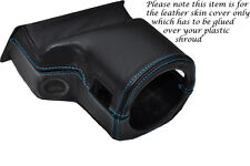 BLUE STITCH FITS ROVER 200 25 MG ZR 99-05 STEERING WHEEL SHROUD LEATHER COVER