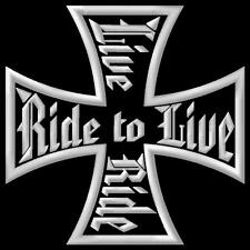 Cross Ride to Live Live to Ride Cruzar Parche bordado iron-on patch