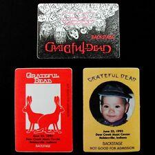 Grateful Dead Backstage Pass Indiana Deer Creek Noblesville IN 6/21,22,23/1993
