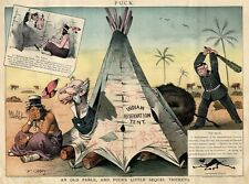 INDIAN RESERVATION TENT TEEPEE PIPE LAWLESS CATTLE BARON PRESIDENT CLEVELAND