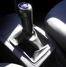 VW POLO 6N 6N2 TDI SDI 16V GTI CUFFIA LEVA CAMBIO IN VER PELLE NERA