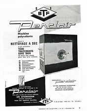 PUBLICITE ADVERTISING 1965 BTF PENCLAIR nettoyage à sec machine polyvalente