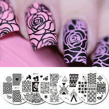 5Stk/set BORN PRETTY Nagel Stamping Platte Schablone Nail Art Plate Blume Herz