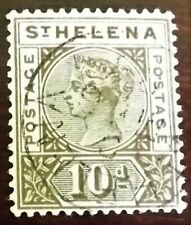 ST. HELENA QV 1890-97 10d BROWN VERY FINE USED Wmk.CROWN CA S.G.52 P.14 VGC
