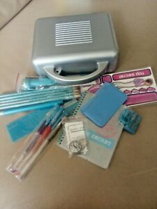 Kids fun Stationary Kit in carry case. Spy themed items pens,lock,stickers light