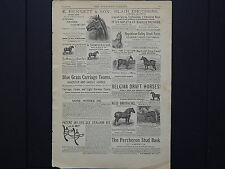 The Breeder's Gazette, Advertising Page, Cows, Horses, c.1880's #10