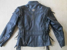 Willie G Collection - Harley Davidson Heavy Leather Womens Small Jacket- USA!!