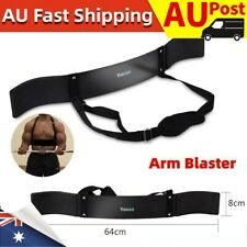 Arm Blaster Bar Curl Bicep Bodybuilding Training Fitness Weight Lifting Arms Aus