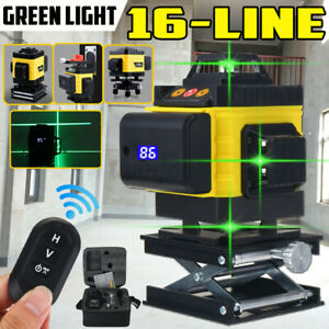 4D 360�� 16 Lines Green Laser Level Auto Self Leveling Rotary Cross Measure