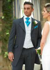 mens grey prince edward suit 5 pieces jacket trousers waistcoat shirt cravat  40